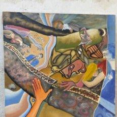 Arte: CUADRO OLEO GRAFFITI ARTE CALLE STREET ART CERO BAJO CERO Y SIRAI 1992 100X81CMS. Lote 265747659