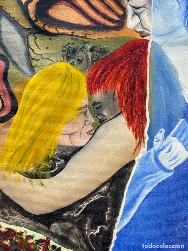 Arte: CUADRO OLEO GRAFFITI ARTE CALLE STREET ART CERO BAJO CERO Y SIRAI 1992 100X81CMS - Foto 4 - 265747659