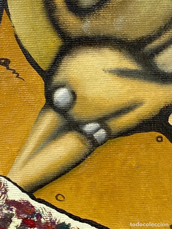 Arte: CUADRO OLEO GRAFFITI ARTE CALLE STREET ART CERO BAJO CERO Y SIRAI 1992 100X81CMS - Foto 5 - 265747659