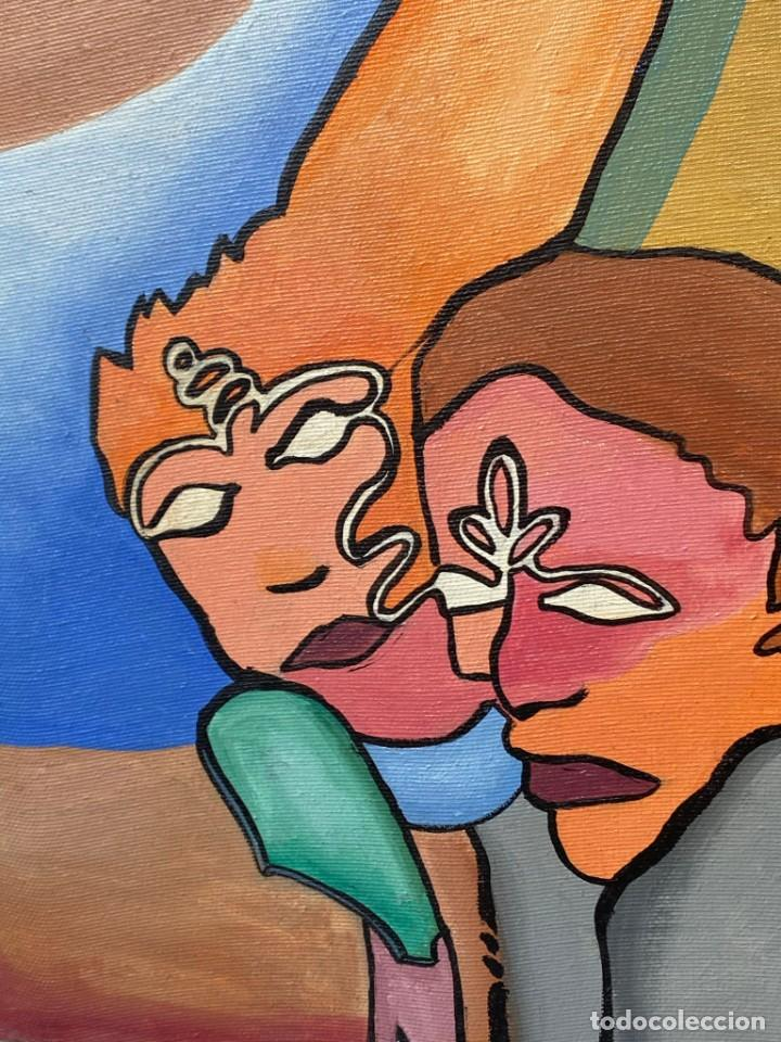 Arte: CUADRO OLEO GRAFFITI ARTE CALLE STREET ART CERO BAJO CERO Y SIRAI 1992 100X81CMS - Foto 8 - 265747659