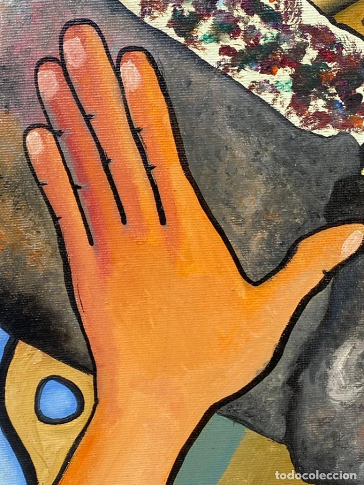 Arte: CUADRO OLEO GRAFFITI ARTE CALLE STREET ART CERO BAJO CERO Y SIRAI 1992 100X81CMS - Foto 13 - 265747659