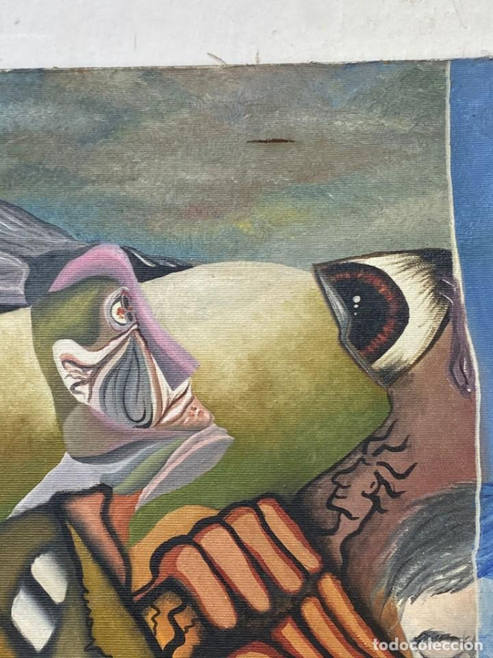 Arte: CUADRO OLEO GRAFFITI ARTE CALLE STREET ART CERO BAJO CERO Y SIRAI 1992 100X81CMS - Foto 22 - 265747659