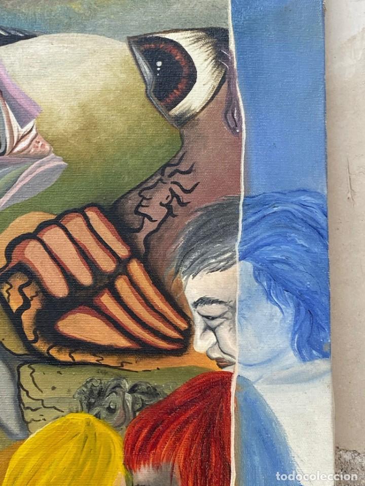 Arte: CUADRO OLEO GRAFFITI ARTE CALLE STREET ART CERO BAJO CERO Y SIRAI 1992 100X81CMS - Foto 23 - 265747659