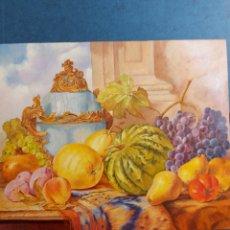 """Arte: COMEZ """"BODEGON HOMENAJE A WILLIAM DUFFIELD """" (1816-1863). Lote 266086483"""