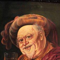Arte: RETRATO DE JOHN FALSTAFF, OLEO SOBRE LIENZO. FIRMADO Y ENMARCADO 86X70CM. Lote 266100163