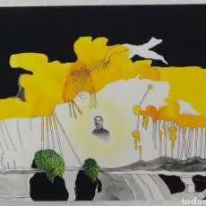 Arte: RAMON PUIG CUYAS (MATARÓ 1953) OLEO SOBRE PAPEL- SURREALISMO. ESCOLA MASSANA. Lote 266310263