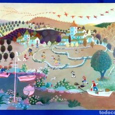 Arte: JOSEP MIR PANAREDA (BARCELONA 1933-2011) NAIF. OLEO SOBRE TABLEX. Lote 266316608