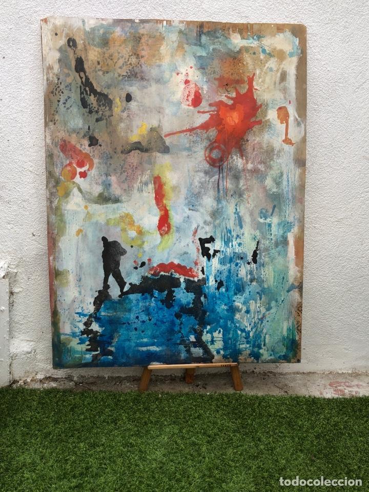 PRECIOSO ÓLEO SOBRE MADERA FIRMADO Y CONFIRMADO POR EL FAMOSO PINTOR RASIM MICHAELI .(100X97CM) (Arte - Pintura - Pintura al Óleo Moderna sin fecha definida)