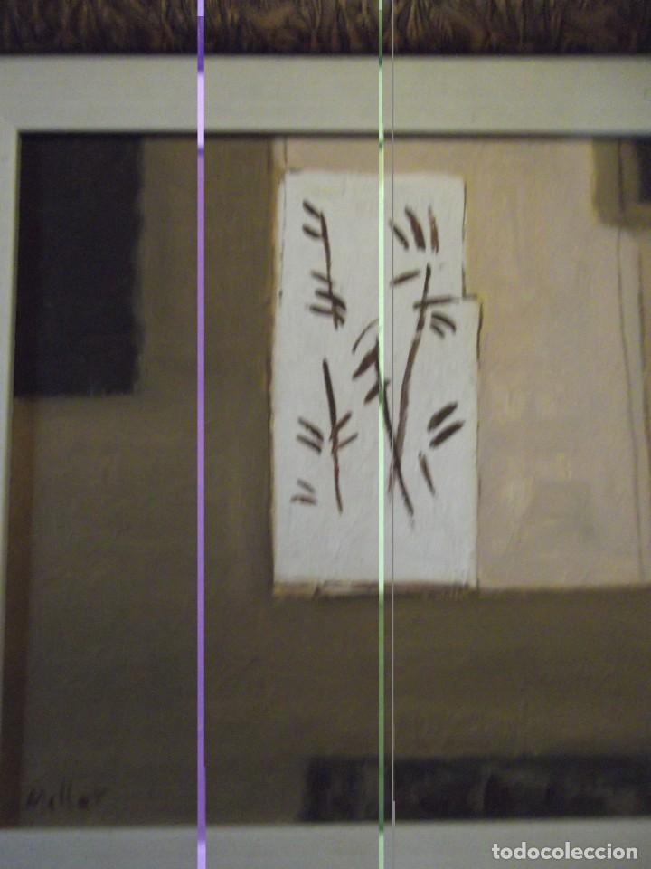 Arte: Hermoso Cuadro del Artista Meller (óleo) 45x45 cm Tiene precio en que lo compré hace años detrás - Foto 2 - 266580873