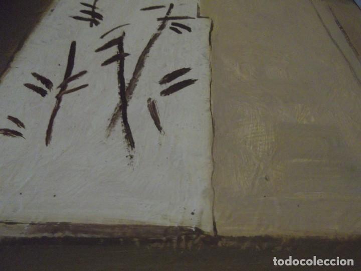 Arte: Hermoso Cuadro del Artista Meller (óleo) 45x45 cm Tiene precio en que lo compré hace años detrás - Foto 4 - 266580873