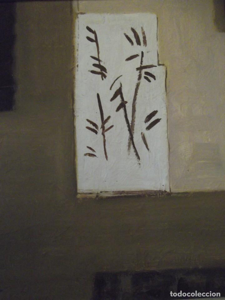 Arte: Hermoso Cuadro del Artista Meller (óleo) 45x45 cm Tiene precio en que lo compré hace años detrás - Foto 5 - 266580873