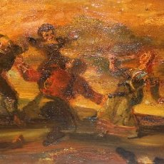 Arte: ESCUELA GOYESCA DE APROXIMADAMENTE 1900. OLEO SOBRE TABLA SIN FIRMAR. Lote 266903434