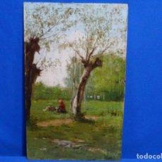 Arte: EXCELENTE ÓLEO SOBRE TABLA ATRIBUIBLE A JOAQUIM VAYREDA. ESCUELA DE OLOT.. Lote 267109469