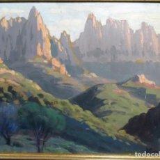 Arte: ÓLEO SOBRE CARTÓN DE TOMÀS VIVER. AYMERICH. PINTOR DE TERRASSA. MONTSERRAT.. Lote 267120494
