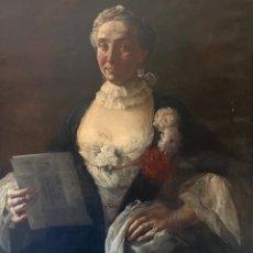 "Arte: RETRATO SIGLO XVIII ""MADAME ELENE B. À VENISE"". Lote 267126054"
