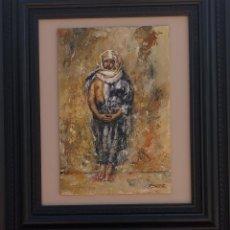 Arte: ÓLEO, CUADRO, JOVEN MARROQUÍ. FIRMA ILEGIBLE. Lote 267164179