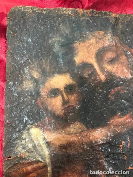 Arte: OLEO SOBRE LIENZO IMAGEN DE SAN JOSE SIGLO XVIII - MEDIDA 35X26 CM - RELIGIOSO - LE FALTA BASTIDOR - Foto 2 - 267336539
