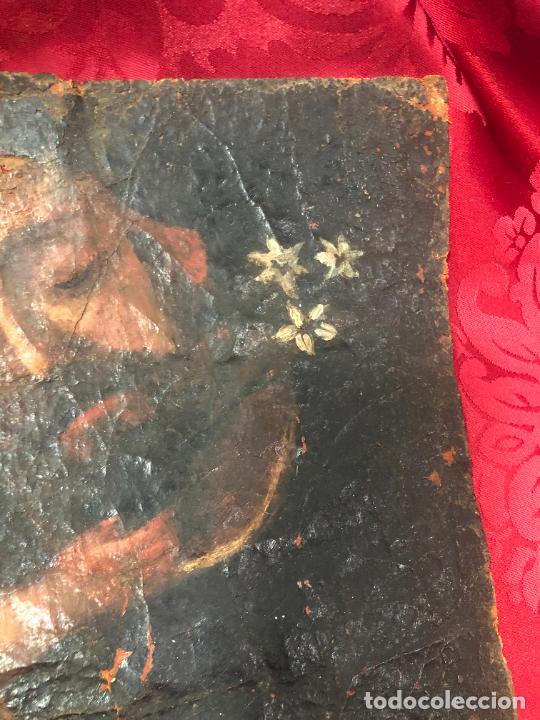 Arte: OLEO SOBRE LIENZO IMAGEN DE SAN JOSE SIGLO XVIII - MEDIDA 35X26 CM - RELIGIOSO - LE FALTA BASTIDOR - Foto 6 - 267336539