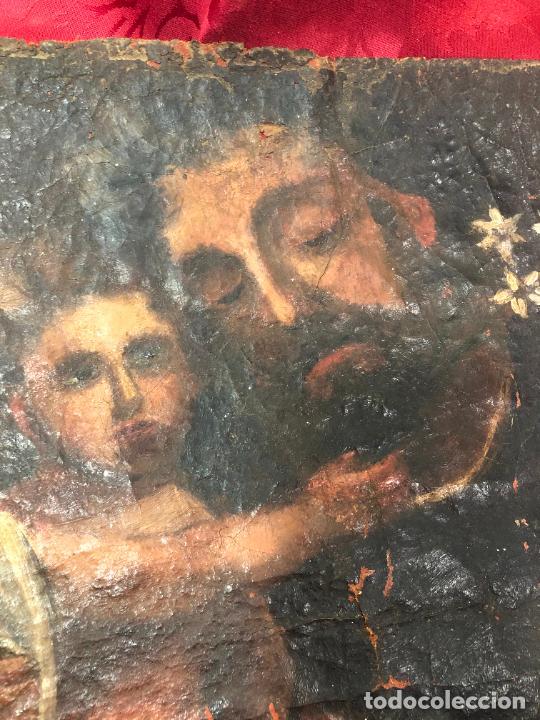 Arte: OLEO SOBRE LIENZO IMAGEN DE SAN JOSE SIGLO XVIII - MEDIDA 35X26 CM - RELIGIOSO - LE FALTA BASTIDOR - Foto 8 - 267336539