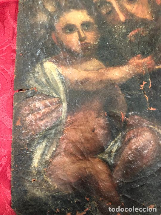 Arte: OLEO SOBRE LIENZO IMAGEN DE SAN JOSE SIGLO XVIII - MEDIDA 35X26 CM - RELIGIOSO - LE FALTA BASTIDOR - Foto 10 - 267336539