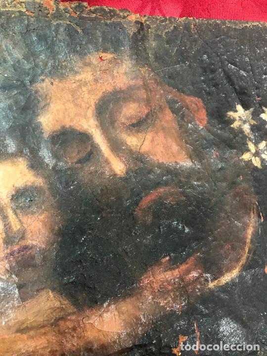 Arte: OLEO SOBRE LIENZO IMAGEN DE SAN JOSE SIGLO XVIII - MEDIDA 35X26 CM - RELIGIOSO - LE FALTA BASTIDOR - Foto 11 - 267336539