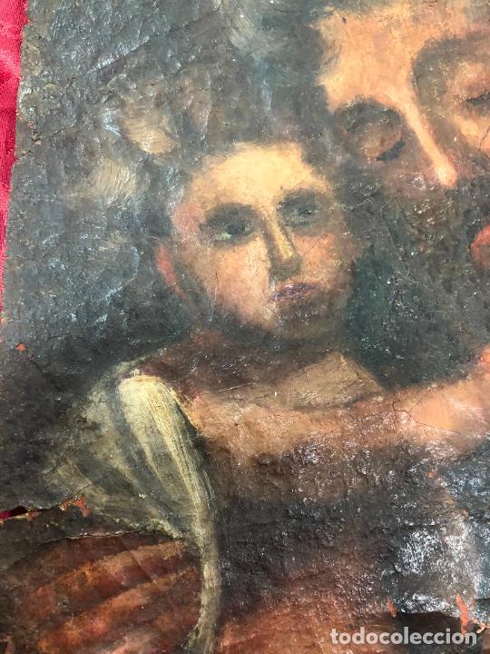 Arte: OLEO SOBRE LIENZO IMAGEN DE SAN JOSE SIGLO XVIII - MEDIDA 35X26 CM - RELIGIOSO - LE FALTA BASTIDOR - Foto 12 - 267336539