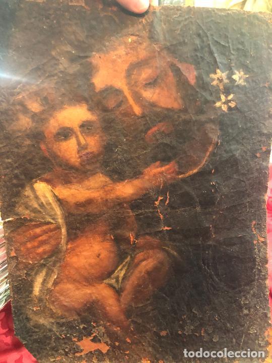 Arte: OLEO SOBRE LIENZO IMAGEN DE SAN JOSE SIGLO XVIII - MEDIDA 35X26 CM - RELIGIOSO - LE FALTA BASTIDOR - Foto 13 - 267336539