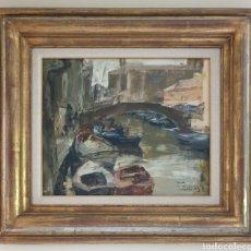 Arte: JOSEP CRUAÑAS FAGES (MAIÀ DE MONTCAL,GIRONA, 1942) - VENEZIA,CHIOGGIA.OLEO/TELA.FIRMADO.. Lote 233957395