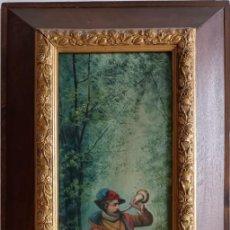 Arte: JOAQUIN ESPALTER Y RULL -SITGES 1809- MADRID 1880 - CAZADOR OLEO S/L FDO MED. 60 X 20 CMS.. Lote 267393379
