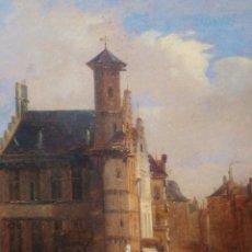Arte: FRANCOIS JEAN LOUIS BOULANGER (BÉLGICA 1819-1873). VISTAS DE UNA CIUDAD.. Lote 267410339
