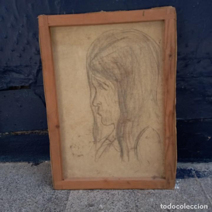 Arte: Antigua pintura oleo flores y retrato femenino firmado - Foto 4 - 267129384