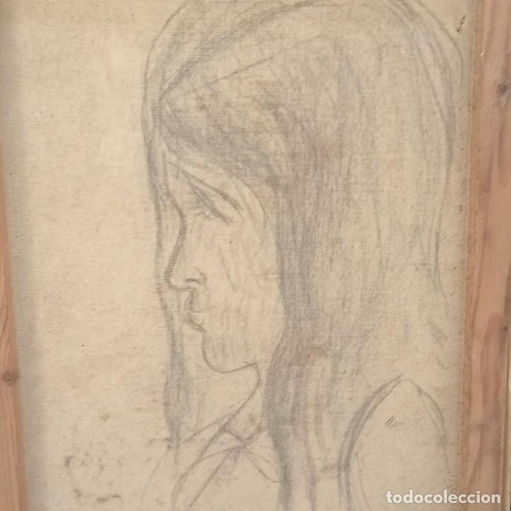 Arte: Antigua pintura oleo flores y retrato femenino firmado - Foto 5 - 267129384