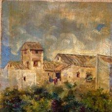 Arte: PAISAJE DE PUEBLO POR FÉLIX INIESTA SOTO (MÁLAGA 1861-897). Lote 267521194
