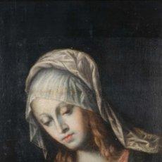 Arte: ÓLEO SOBRE LIENZO VIRGEN ESCUELA ITALIANA SIGLO XVIII. Lote 267646054
