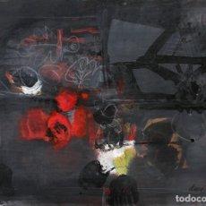 Arte: ANTONI CLAVÉ I SANMART ÓLEO SOBRE PAPEL SOBRE LIENZO REGISTRADO EN EL ARCHIVO ANTONI CLAVÉ 1962. Lote 267665239