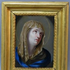 Arte: VIRGEN DOLOROSA ÓLEO SOBRE COBRE CON MARCO DE MADERA DORADA ESCUELA ITALIANA FINALES DEL SIGLO XVII. Lote 267731939