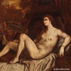 """Arte: GRAN PINTURA DE LA PRIMERA MITAD DEL SIGLO XVIII """"DANAE Y LA LLUVIA DE ORO"""". Lote 267735209"""