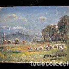 Arte: MAGNÍFICO ÓLEO DE JOAQUIM MARSILLACH I CODONY (OLOT, GERONA 1905 - 1986). PAISAJE.. Lote 267812404