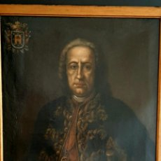 Arte: IMPRESIONANTE Y ANTIGUA PINTURA , OLEO SOBRE LIENZO , RETRATO DE D.JUAN DE URBINA 1765. Lote 267825009