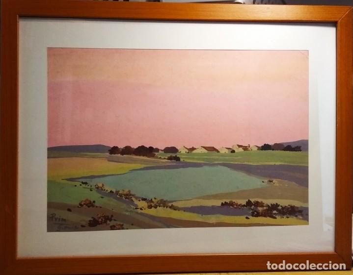 PAISAJE DE GRENIER OBRA DEL PINTOR JOSEP Mª PRIM (BARCELONA 1907-73) (Arte - Pintura - Pintura al Óleo Contemporánea )