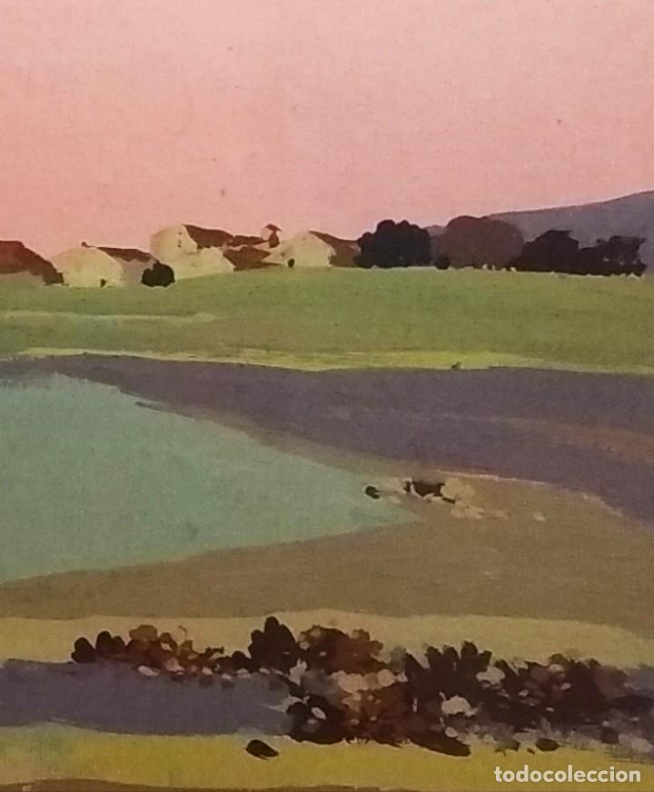 Arte: Paisaje de Grenier obra del pintor Josep Mª Prim (Barcelona 1907-73) - Foto 2 - 268033694