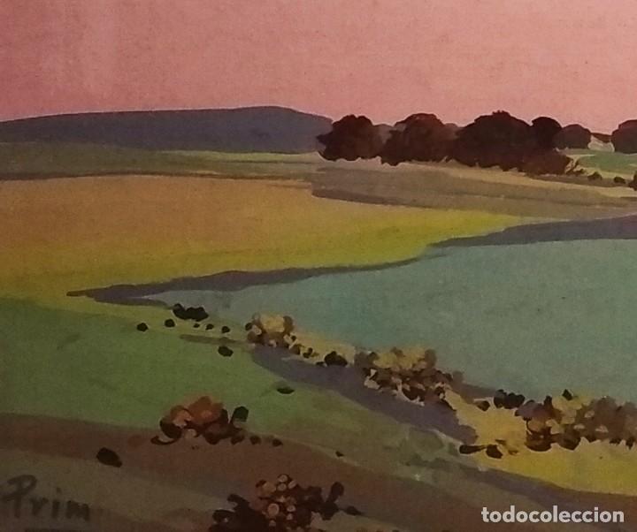 Arte: Paisaje de Grenier obra del pintor Josep Mª Prim (Barcelona 1907-73) - Foto 3 - 268033694