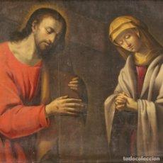 Arte: CRISTO LLEVANDO LA CRUZ DE LA PRIMERA MITAD DEL SIGLO XVIII. Lote 268116299