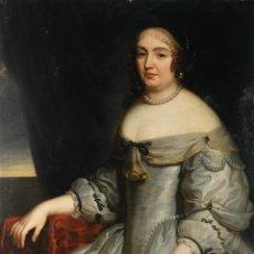 Arte: ÓLEO SOBRE LIENZO RETRATO DE ANNE LOUISE D'ORLEANS ATRIBUIDO A CHARLES BEAUBRUN (1604-1692). Lote 268155974