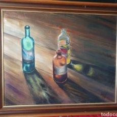 Arte: ANTIGUO CUADRO BODEGÓN ÓLEO SOBRE LIENZO FIRMADO. Lote 268174334