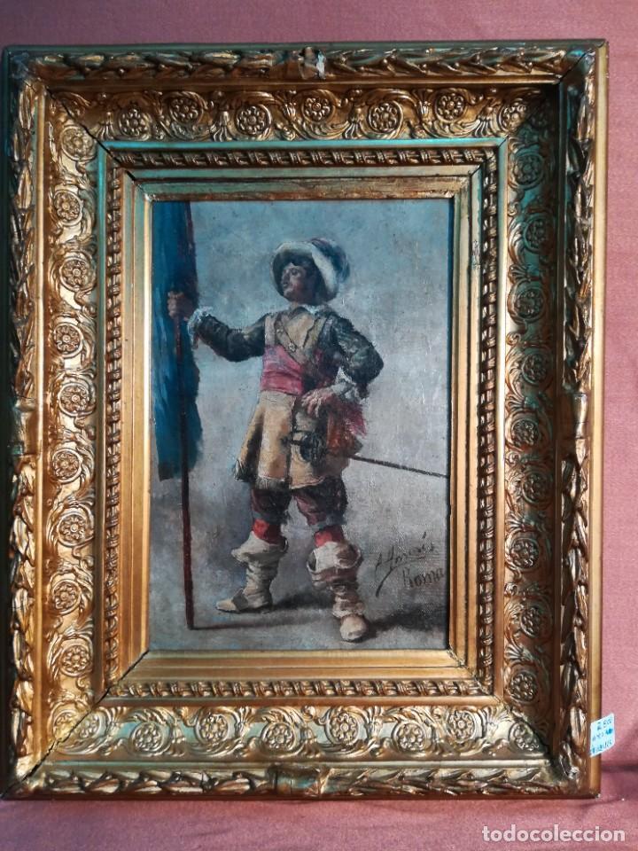 MOSQUETERO (Arte - Pintura - Pintura al Óleo Moderna siglo XIX)