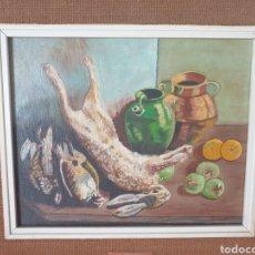 Arte: ANTIGUO CUADRO ÓLEO SOBRE LIENZO FIRMADO. Lote 268314289