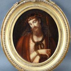 "Arte: ""RETRATO DE CRISTO"" SIGLO XVIII. ÓLEO SOBRE PANEL.. Lote 268461104"