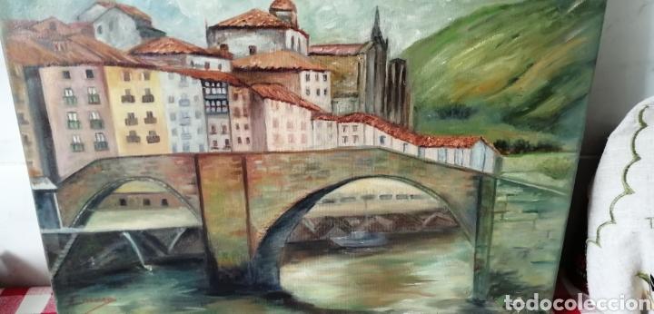 Arte: Precioso paisaje a óleo sobre lienzo de la ría de Bilbao - Foto 2 - 268615624