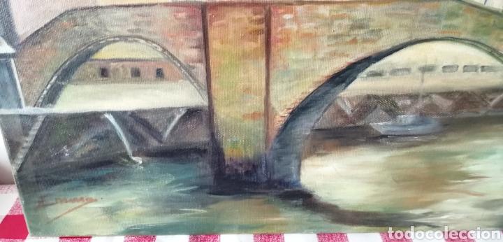 Arte: Precioso paisaje a óleo sobre lienzo de la ría de Bilbao - Foto 3 - 268615624